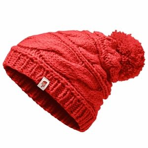 The North Face Triple Cable Pom Beanie Melon Red